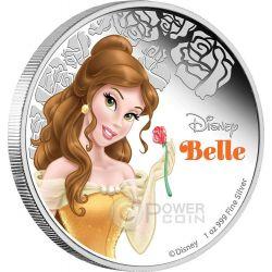 BELLA Belle Disney Princess Principessa 1 oz Moneta Argento 2$ Niue 2015