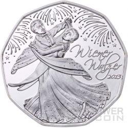 WIENER WALZER Valzer Viennese Vienna Moneta Argento 5€ Euro Austria 2013