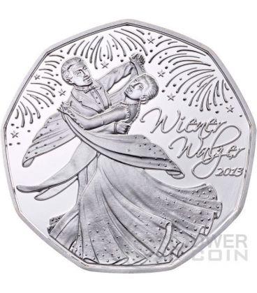 WIENER WALZER Viennese Waltz Silver Coin 5€ Euro Austria 2013