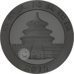 BURNING PANDA Fire Black Ruthenium Oro 1 Oz Moneda Plata 10 Yuan China 2015