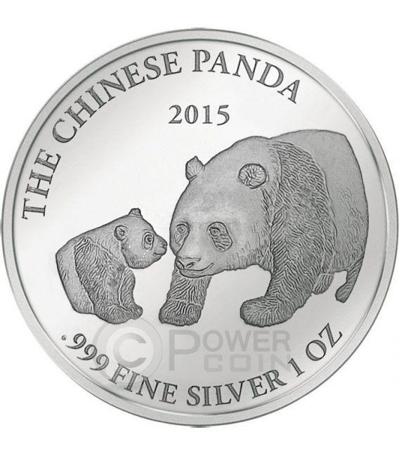 PANDA Smick Ounce Edition Moneta Argento 1000 Franchi Gabon 2015