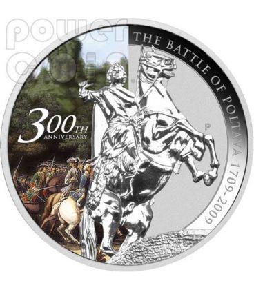 POLTAVA Battaglia 300 Anniversario 1709 Moneta Argento 1$ Tuvalu 2009