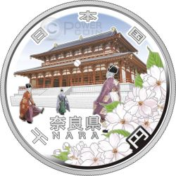 NARA 47 Prefectures (7) Plata Proof Moneda 1000 Yen Japan Mint 2009