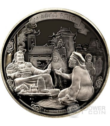MARCO POLO Journeys Of Discovery 2 oz Moneta Argento 5$ Niue 2015