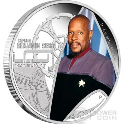 CAPTAIN BENJAMIN SISKO Star Trek Deep Space Nine Moneta Argento 1$ Tuvalu 2015