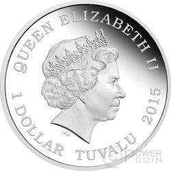 CAPTAIN BENJAMIN SISKO Star Trek Deep Space Nine Silver Coin 1$ Tuvalu 2015