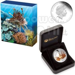LIONFISH Australian Sea Life Silber Münze 50c Australia 2009