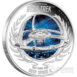 DEEP SPACE NINE Space Station Star Trek Series Silver Coin 1$ Tuvalu 2015