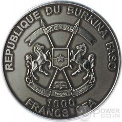 MAMMOTH BABY Real Eyes Prehistoric 1 Oz Silver Coin 1000 Francs Burkina Faso 2015