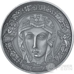 MARIA MADRE DI DIO Sancta Maria Mater Dei Moneta Argento 1 Kilo Kg 10000 Franchi Burkina Faso 2015