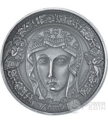 HOLY MARY MOTHER OF GOD Sancta Maria Mater Dei 1 Kilo Kg Silver Coin 10000 Francs Burkina Faso 2015