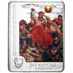 MATEJKO JAN Wernyhora Silber Münze Pearl 5$ Cook Islands 2009