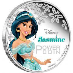 JASMINE Disney Princess Principessa 1 oz Moneta Argento 2$ Niue 2015