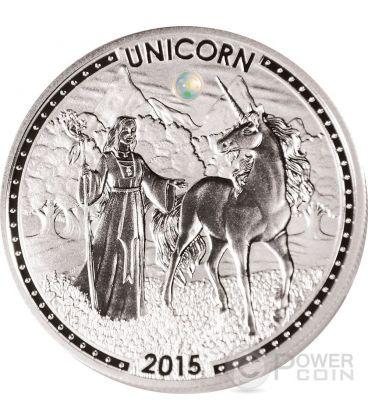 UNICORNO Unicorn Series Opale Moneta Argento 1000 Franchi Camerun 2015
