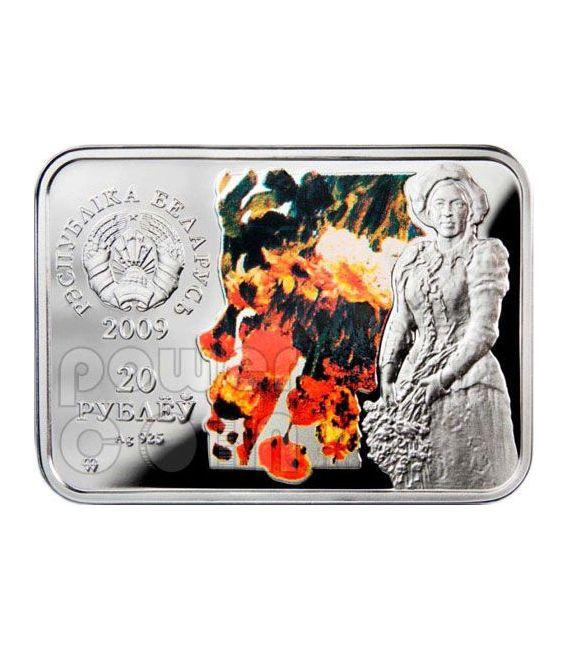 REPIN Ilya Autumn Bouquet Silver Coin Belarus 2009