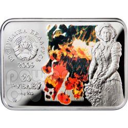 REPIN Ilya Autumn Bouquet Серебро Монета Белоруссия 2009