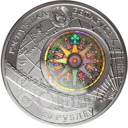 SEDOV Sailing Ship Серебро Монета Hologram Белоруссия 2008