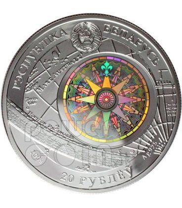 SEDOV Sailing Ship Silver Coin Hologram Belarus 2008