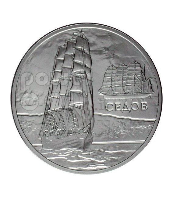 SEDOV Sailing Ship Moneda Plata Hologram Belarus 2008