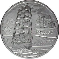 SEDOV Sailing Ship Silber Münze Hologram Belarus 2008