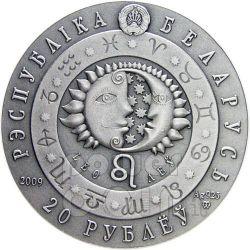 LEO Horoscope Zodiac Swarovski Moneda Plata Belarus 2009