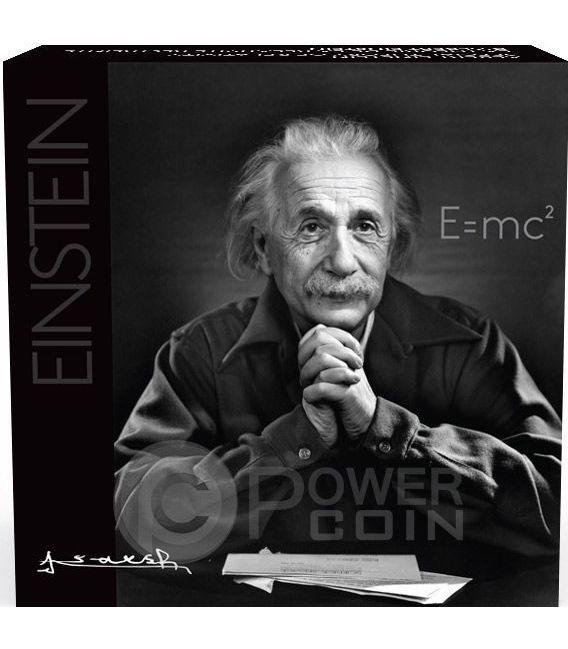 ALBERT EINSTEIN Anniversario Teoria Della Relativita Moneta 10 Oz Argento 100$ Canada 2015