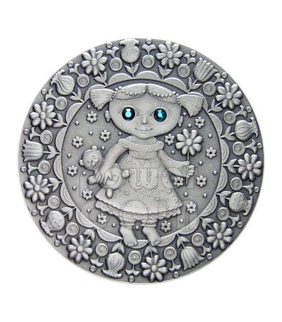 VIRGO Horoscope Zodiac Swarovski Silber Münze Belarus 2009
