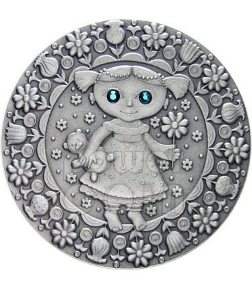 VERGINE Oroscopo Zodiaco Swarovski Moneta Argento Bielorussia 2009