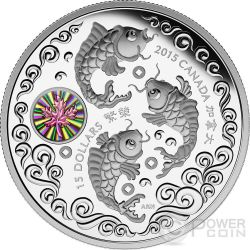 MAPLE OF PROSPERITY Hologram Chinese Community Silver Coin 15$ Canada 2015