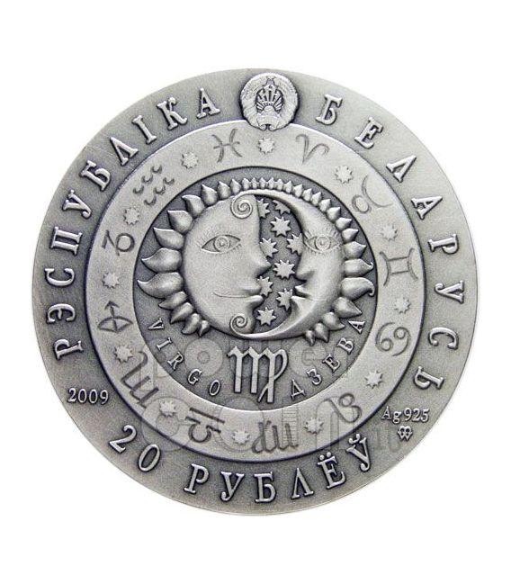 VIRGO Horoscope Zodiac Swarovski Silver Coin Belarus 2009