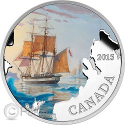 FRANKLIN LOST EXPEDITION Navi Perdute Acque Canadesi Moneta Argento 20$ Canada 2015