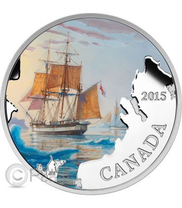 FRANKLIN LOST EXPEDITION Lost Ships In Canadian Waters Silver Coin 20$ Canada 2015
