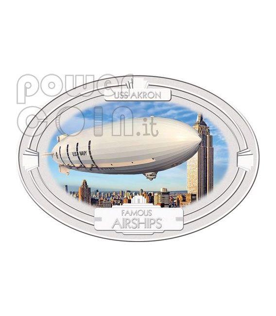FAMOUS AIRSHIPS 1930 4 Silber Münze Set 2$ Fiji 2009