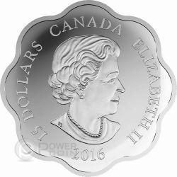 MONKEY LOTUS Lunar Year Chinese Zodiac Moneda Plata 15$ Canada 2016