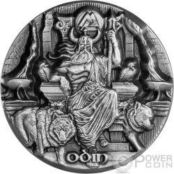 ODIN RULER OF AESIR Legends of Asgard Max Relief 3 Oz Silver Coin 10$ Tokelau 2016