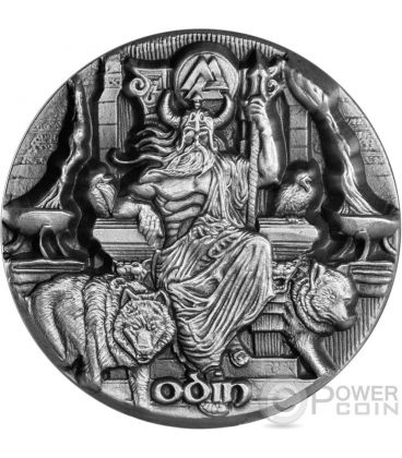 ODIN RULER OF AESIR Odino Legends of Asgard 3 Oz Moneta Argento 10$ Tokelau 2016