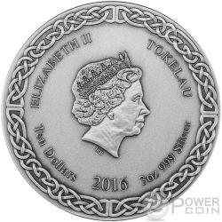ODIN RULER OF AESIR Legends of Asgard Max Relief 3 Oz Silber Münze 10$ Tokelau 2016