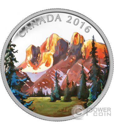 THE ROCKIES Canadian Landscape Moneta Argento 20$ Canada 2016