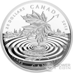 MAPLE LEAF REFLECTION Silver Proof Coin 20$ Canada 2015