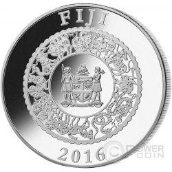 MONKEY PINK PEARL Chinese Lunar Year 1 Oz Moneda Plata 10$ Fiji 2016