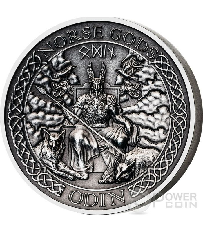 Odin Norse Gods High Relief 2 Oz Silver Coin 10 Cook