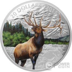 MAJESTIC ELK Cervo Moneta Argento 20$ Canada 2015