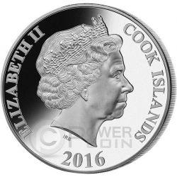 TRANS SIBERIAN RAILWAY Transiberiana 100 Anniversario Madreperla Moneta Argento 5 Oz 25$ Cook Islands 2016