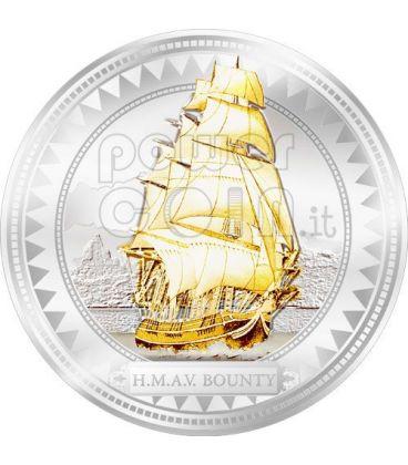 HMAV BOUNTY Silver Coin Gilded 2$ Pitcairn Islands 2008
