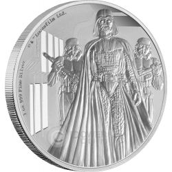 DARTH VADER Star Wars A New Hope 1 oz Silver Proof Coin 2$ Niue 2016