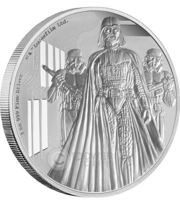 DARTH VADER Dart Fener Star Wars Nuova Speranza 1 oz Moneta Argento 2$ Niue 2016