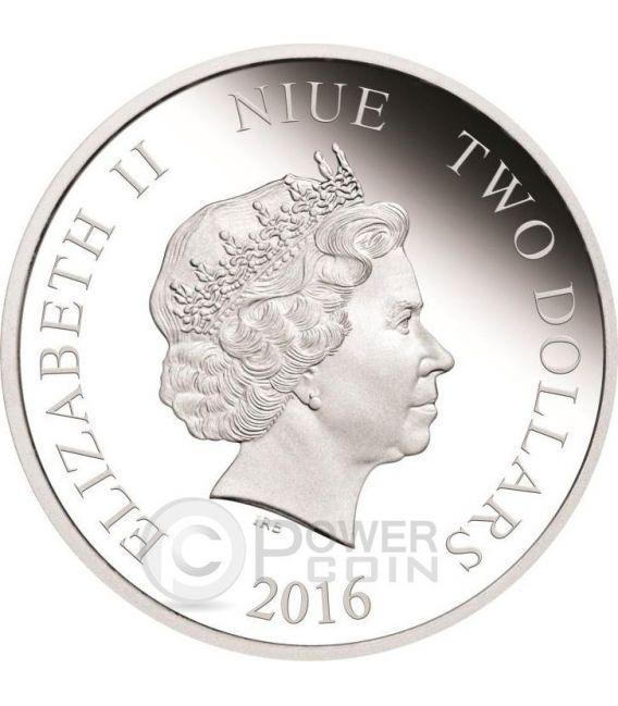 DARTH VADER Dart Fener Star Wars Nuova Speranza 1 oz Moneta Argento 2$ Niue 2016