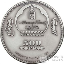 AMMONITE Evolution of Life Silber Münze 500 Togrog Mongolia 2015