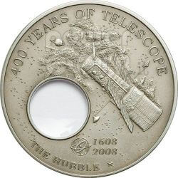 HUBBLE Telescope Invention 400th Anniversary Silver Coin 5$ Palau 2008