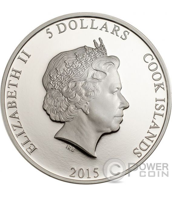 PEACOCK Magnificent Life 1oz Moneda Plata 5$ Cook Islands 2015